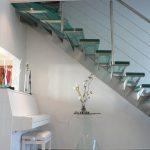 Escalier en inox avec marches en verre - Hossegor - Landes