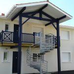 Escalier hélicoïdal extérieur galvanisé - Bénesse Maremne - Landes