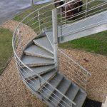 Escalier tournant extérieur galvanisé - Capbreton - Landes