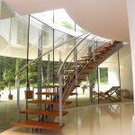 Escalier à limon central débillardé - Hossegor - Landes