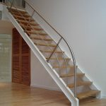 Escalier à limons latéraux en UPN avec garde-corps inox - Seignosse - Landes